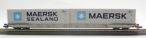 96010016 Igra Model - Containertragwagen Sggnss 80 with 2 Containers